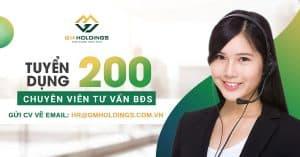 Tuyển dụng 200 Chuyên viên tư vấn Bất động sản
