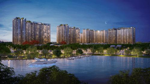 Phối cảnh tổng thể dự án Picity High Park (số 9A, đường Thạnh Xuân 13, phường Thạnh Xuân, quận 12, TP HCM)nhìn từ sông Vàm Thuật. Liên hệ dự án: 1900633331 - 0898142247 hoặc truy cập tại đây.