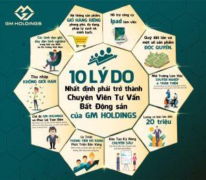 10 lý do khiến bạn nhất định phải trở thành chuyên viên tư vấn BDS tại GM Holdings