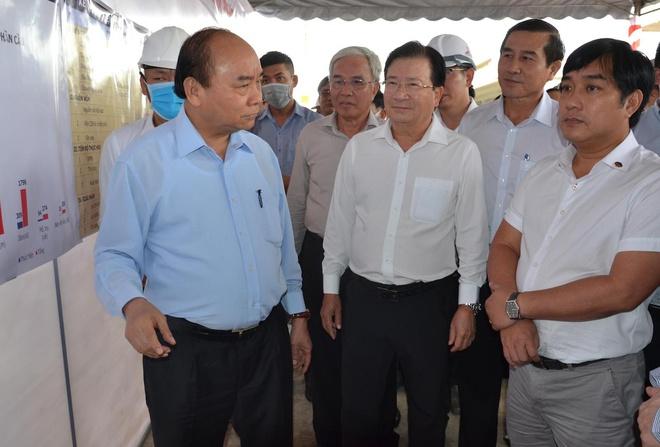 Thủ tướng kiểm tra dự án cao tốc Trung Lương – Mỹ Thuận