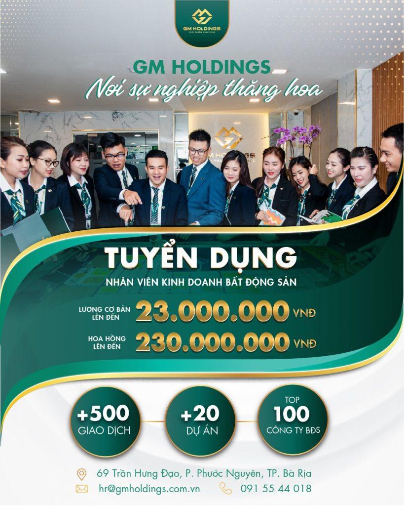 [GM Holdings – Bà Rịa] HOT Việc làm ngay Trung Tâm TP. Bà Rịa