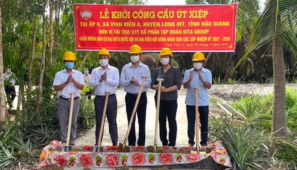KITA Group tài trợ công trình cầu Út Xiệp (xã Vĩnh Viễn A, H.Long Mỹ, tỉnh Hậu Giang)
